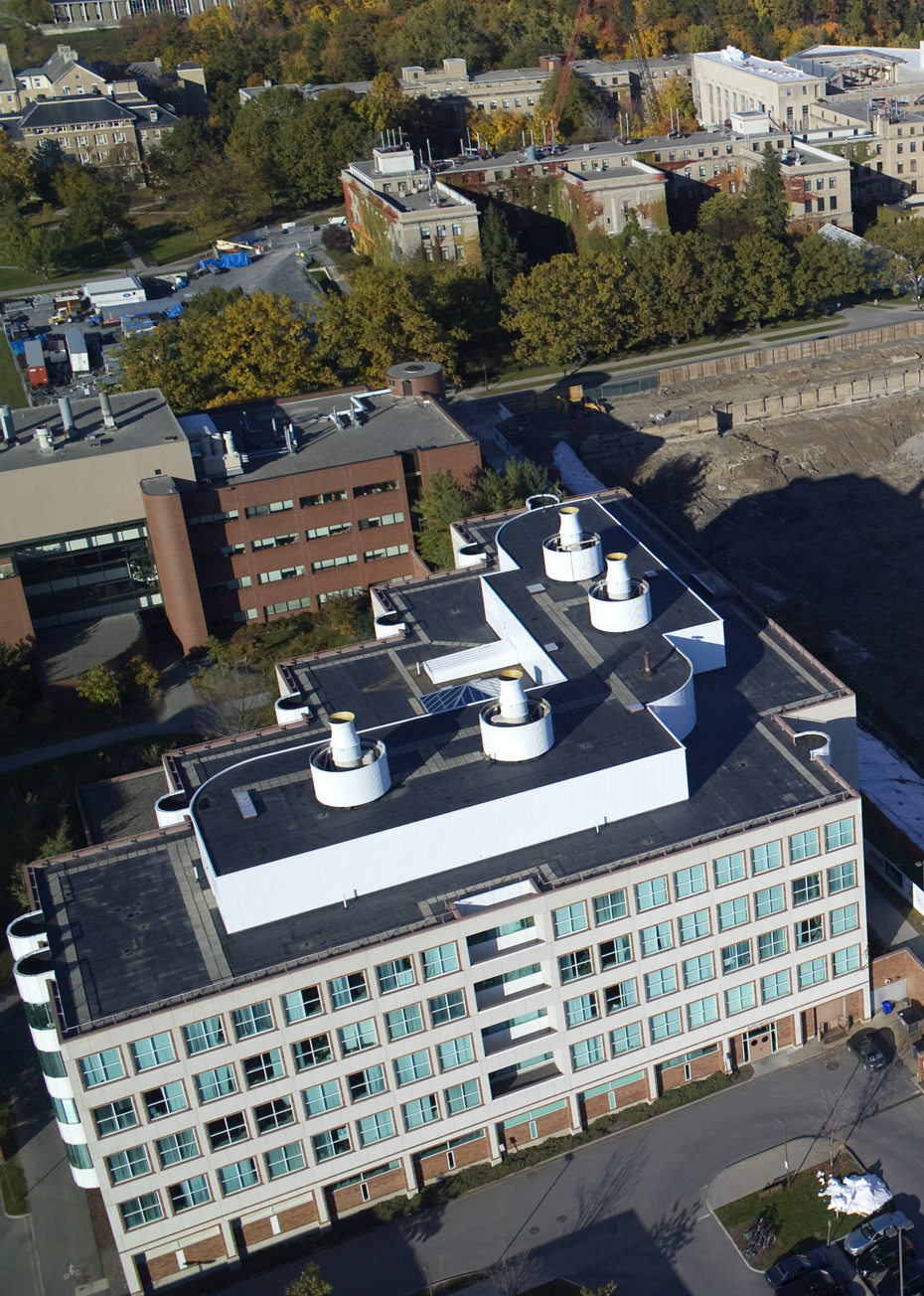 Weill Hall and Biotechnology Building - aerial view